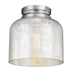 Mercury Glass Flushmount Light Polished Nickel Feiss Lighting