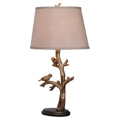 Kenroy Home Lighting Tweeter Bronzed Table Lamp with Drum Shade