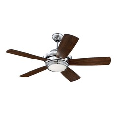 Craftmade Lighting Tempo Chrome LED Ceiling Fan with Light