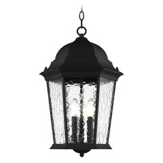 Livex Lighting Hamilton Textured Black Outdoor Hanging Light