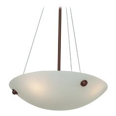 Access Lighting Noya Bronze LED Pendant Light with Bowl / Dome Shade