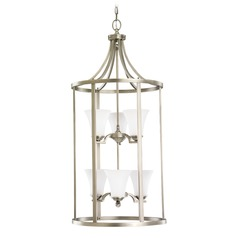Sea Gull Lighting Somerton Antique Brushed Nickel LED Pendant Light with Bell Shade