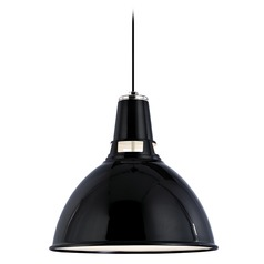 Modern Pendant Light in Black Polished Nickel Finish