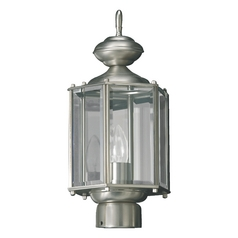 Quorum Lighting Satin Nickel Post Light