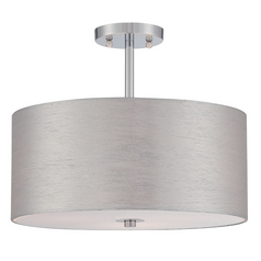 Lite Source Lighting Silvain Chrome Semi-Flushmount Light