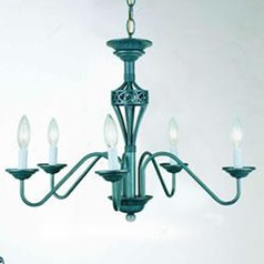 Lite Source Rust Chandelier