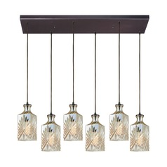 Giovanna Oil Rubbed Bronze Multi-Light Pendant with Rectangle Shade