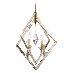 Kichler Lighting Layan 4-Light Polished Nickel and Brass Pendant Light