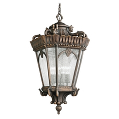 Kichler Outdoor Hanging Light with Clear Glass in Londonderry Finish