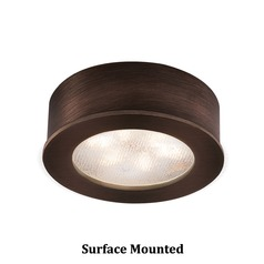 WAC Lighting LED Button Light Copper Bronze 2.25-Inch LED Under Cabinet Puck Light