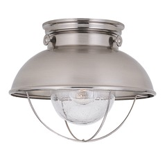 Sea Gull Lighting Sebring Brushed Stainless LED Close To Ceiling Light
