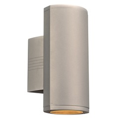 Plc Lighting Lenox-Ii Silver LED Outdoor Wall Light