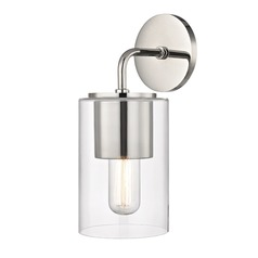 Mid-Century Modern Sconce Polished Nickel Mitzi Lula by Hudson Valley