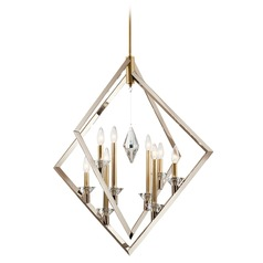 Kichler Lighting Layan 8-Light Polished Nickel and Brass Pendant Light