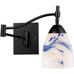 Transitional Swing Arm Lamp Bronze Celina by Elk Lighting