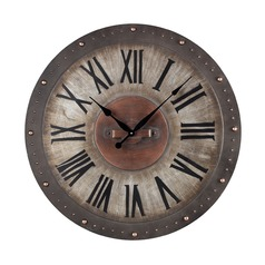 Sterling Lighting Grey with Copper Highlight Clock
