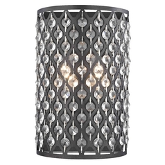 Modern Crystal Bronze Wall Sconce