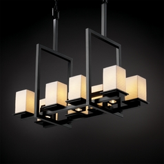 Justice Design Limoges 8-Light Chandelier in Matte Black