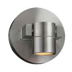 PLC Lighting Lydon Brushed Aluminum LED Outdoor Wall Light