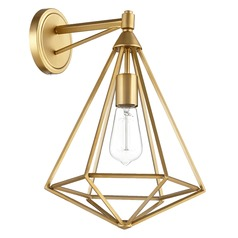 Quorum Lighting Bennett Aged Brass Sconce