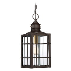 Quoizel Lighting West Oak Western Bronze Outdoor Hanging Light