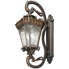 Kichler Outdoor Wall Light with Clear Glass in Londonderry Finish