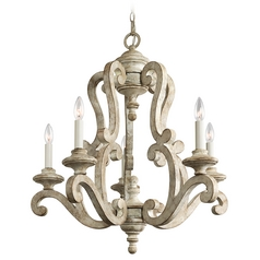 Kichler Chandeliers in Distressed Antique White Finish