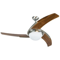 Craftmade Lighting Juna Stainless Steel Ceiling Fan with Light