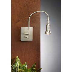 Holtkoetter Modern Wall Lamp in Satin Nickel Finish