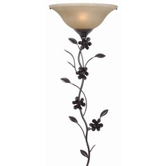 Kenroy Home Lighting Blooms Wallchiere Golden Flecked Bronze Sconce