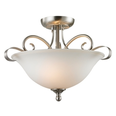 Thomas Lighting Brighton Brushed Nickel Pendant Light