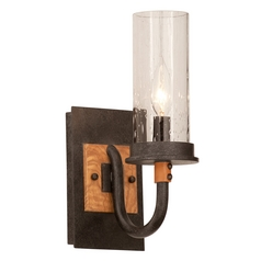 Seeded Glass Sconce Iron Kalco Lighting