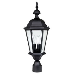 Capital Lighting Carraige House Black Post Light