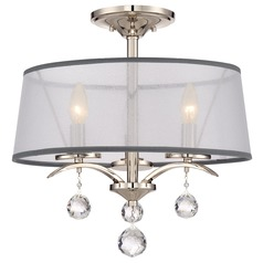 Quoizel Whitney Imperial Silver Semi-Flushmount Light