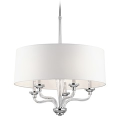 Kichler Lighting Loula Chrome Pendant Light with Bowl / Dome Shade