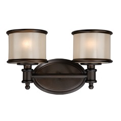 Carlisle Noble Bronze Bathroom Light by Vaxcel Lighting