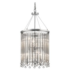 Kichler Lighting Piper Chrome Pendant Light with Cylindrical Shade