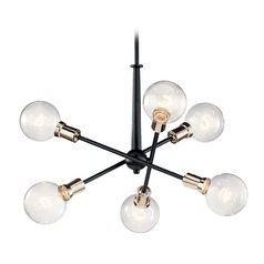 Kichler Lighting Armstrong 6-Light Black Mini-Chandelier