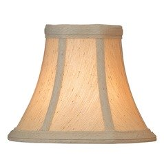 Beige Bell Lamp Shade with Clip-On Assembly