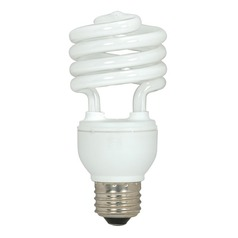 18-Watt Cool White Compact Fluorescent Light Bulb
