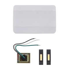 Doorbell Chime Kit 2 Black Doorbell Buttons and Transformer - 2 Notes
