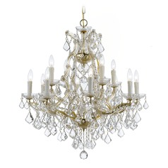 Crystorama Maria Theresa 2-Tier 13-Light Crystal Chandelier in Gold