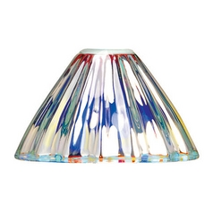 Dichroic Conical Glass Shade