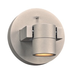 PLC Lighting Lydon Silver LED Outdoor Wall Light