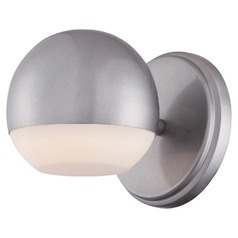Mid-Century Modern LED Sconce Silver Finish by George Kovacs