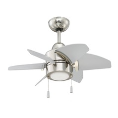Craftmade Lighting Propel Polished Nickel LED Ceiling Fan with Light