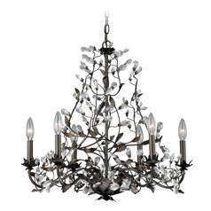 Trellis Architectural Bronze with Gold Accents Chandelier by Vaxcel Lighting