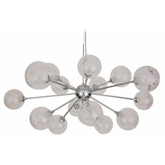 Mid-Century Modern Pendant Light Chrome Yves by Nuevo Lighting