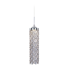 Modern LED Mini-Pendant Light with Clear Glass
