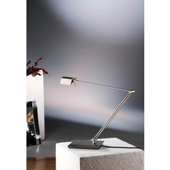 Holtkoetter Lighting Bernie Series Satin Nickel Swing Arm Lamp